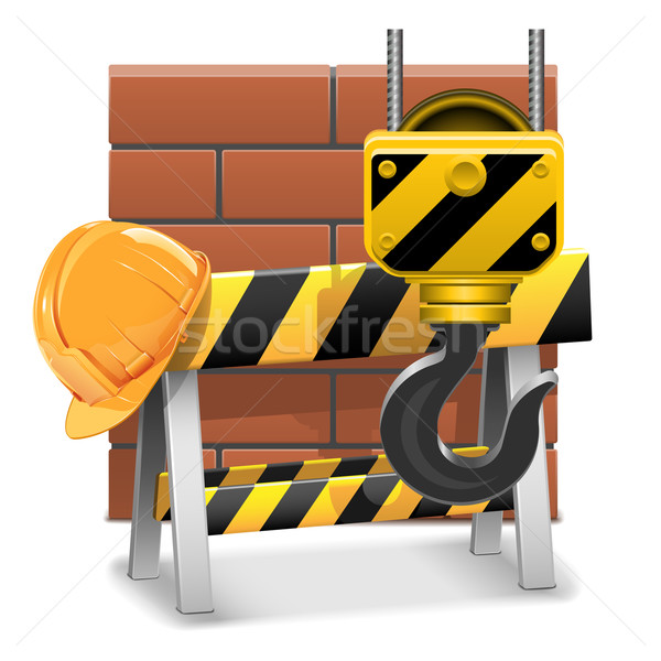 Vector Under Construction Concept with Bricks Stock photo © dashadima