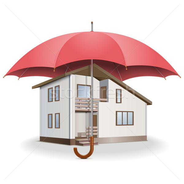 Vector Umbrella and House Stock photo © dashadima