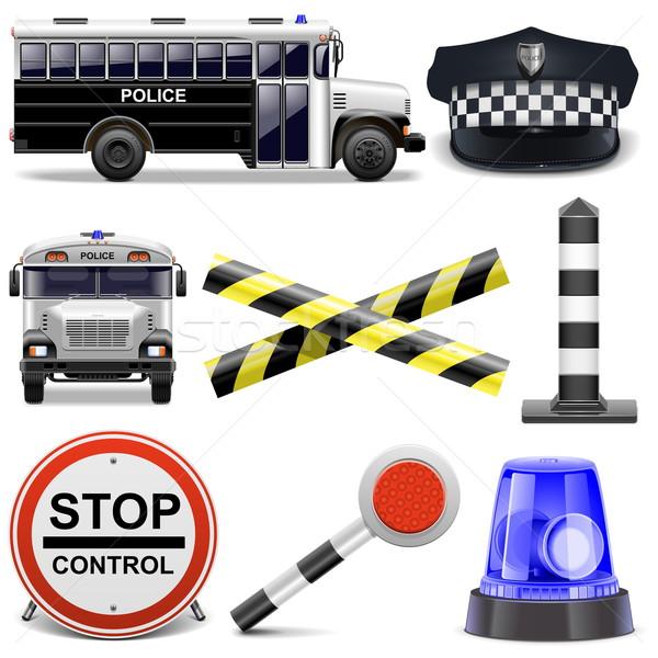 Vector Police Icons Stock photo © dashadima