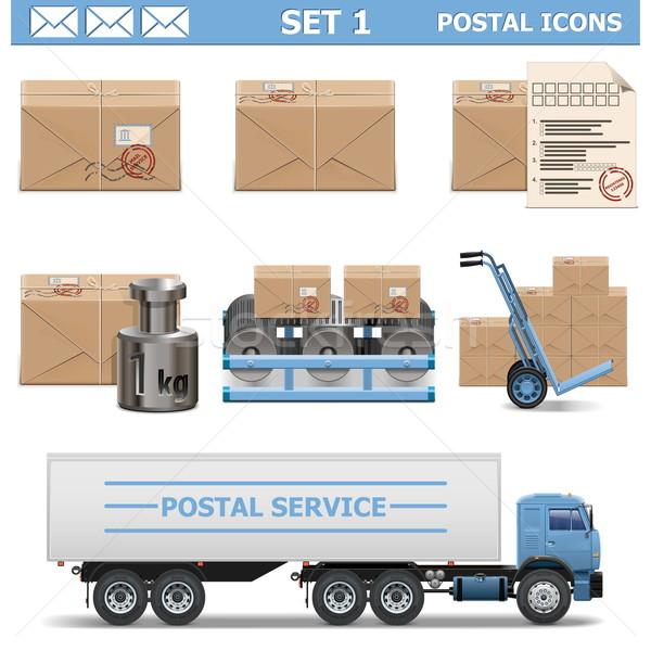 Vector Postal Icons Set 1 Stock photo © dashadima