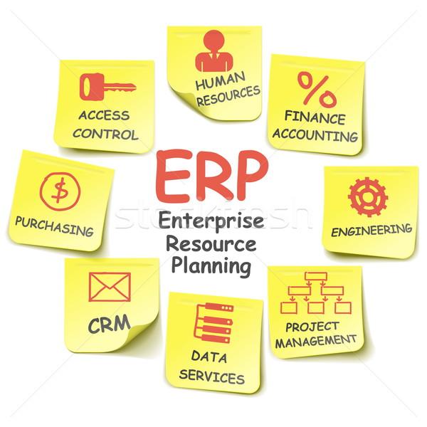Vector ERP Stickers Stock photo © dashadima