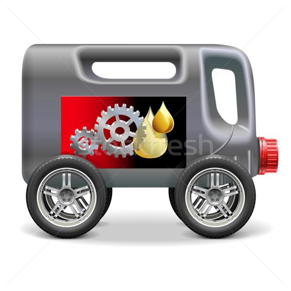 Vector Motor Oil on Wheels Stock photo © dashadima