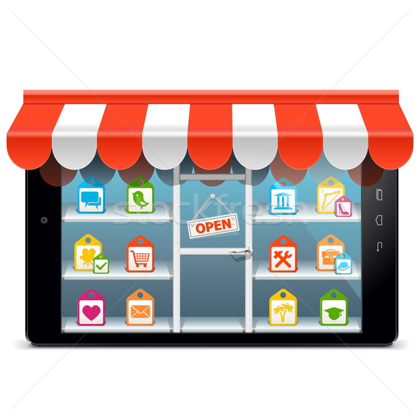 Vector Tablet PC with Supermarket Concept Stock photo © dashadima