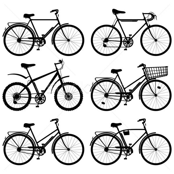 Vector Bicycle Pictogram Stock photo © dashadima