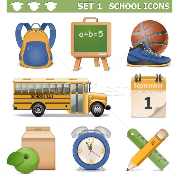 Vector School Icons Set 1 Stock photo © dashadima