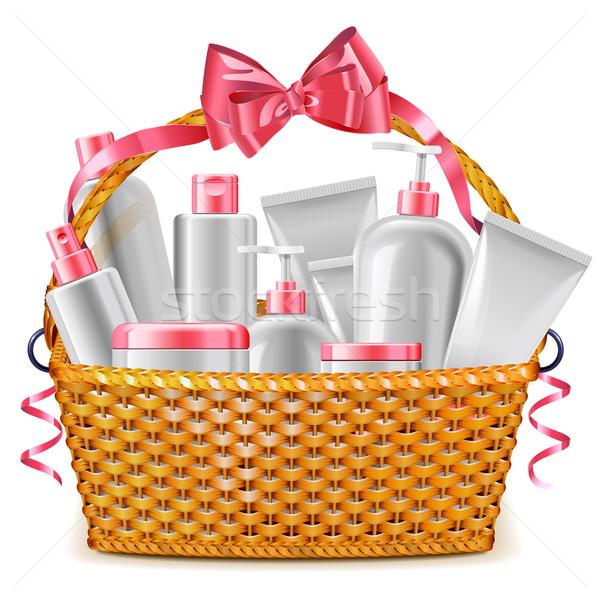 Vector Gift Basket with Cosmetics Stock photo © dashadima
