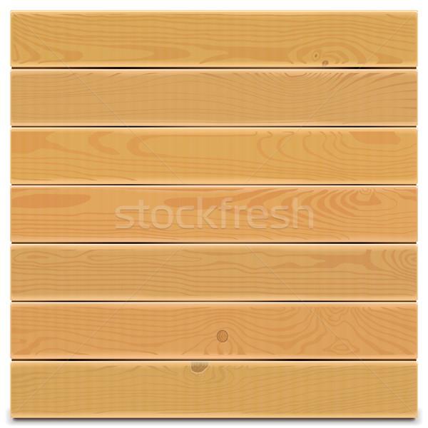ベクトル 木板 孤立した 白 木材 壁 ストックフォト © dashadima