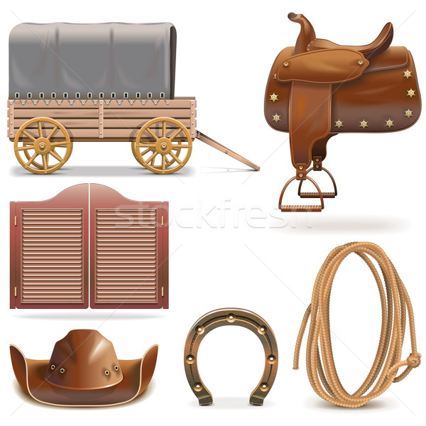 Vector Cowboy Icons Set 2 Stock photo © dashadima