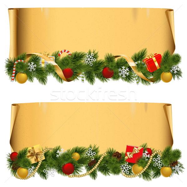 вектора Рождества выделите набор изолированный белый Сток-фото © dashadima