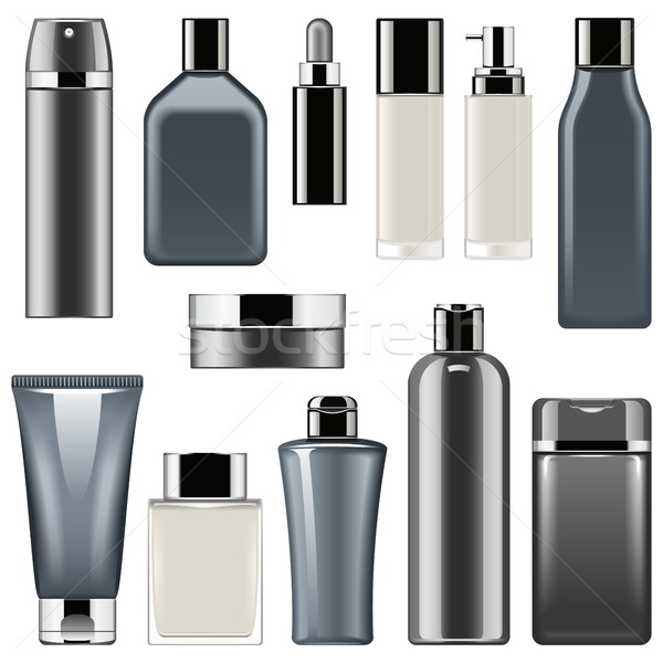 Vector Cosmetic Packaging Icons Set 9 Stock photo © dashadima