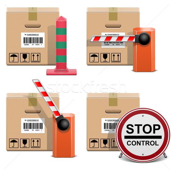 Vector Shipment Icons Set 22 Stock photo © dashadima
