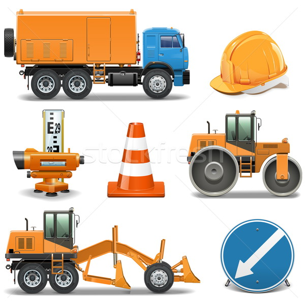Vector Road Construction Icons Stock photo © dashadima