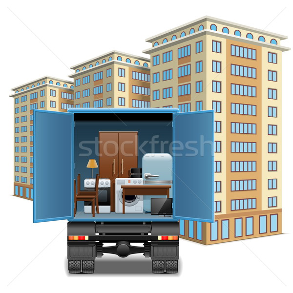 Vector Furniture Transportation Stock photo © dashadima