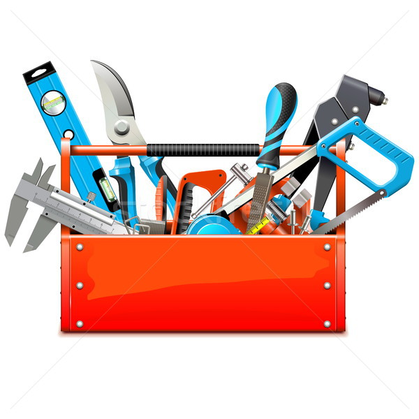 Vector Toolbox with Hand Tools Stock photo © dashadima