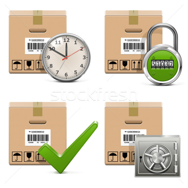 Vector Shipment Icons Set 16 Stock photo © dashadima