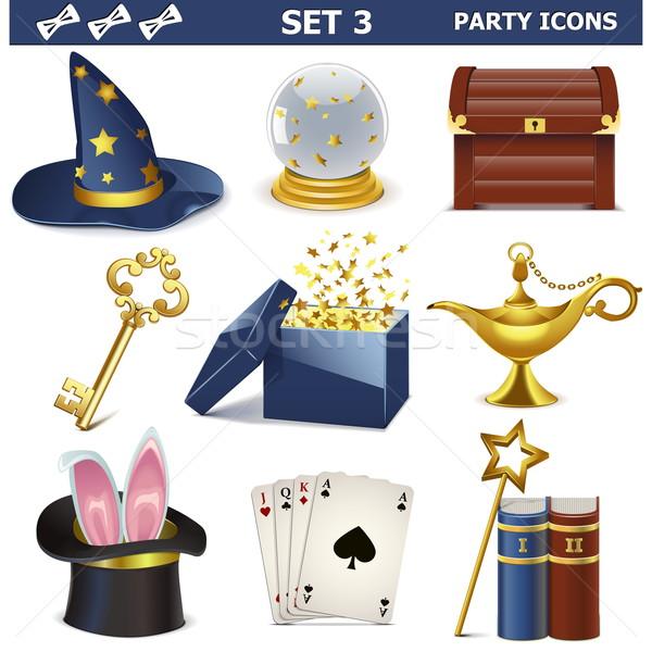 Vector Party Icons Set 3 Stock photo © dashadima