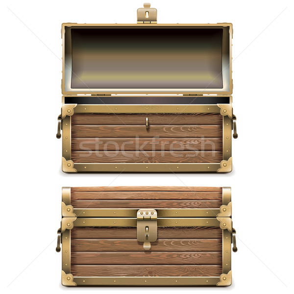 Vector Empty Old Chest Stock photo © dashadima