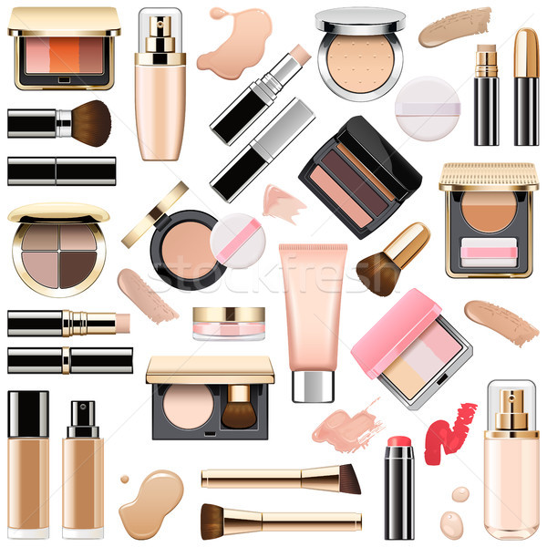 Vector Face Makeup Cosmetics Stock photo © dashadima