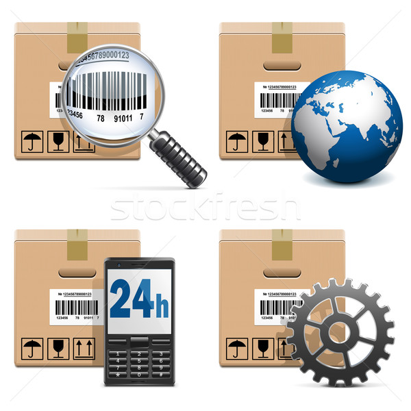 Vector Shipment Icons Set 15 Stock photo © dashadima