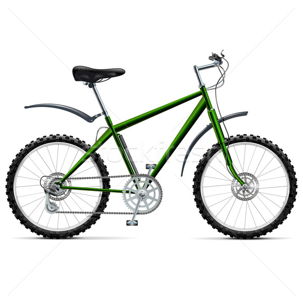Vector Mountain Bicycle Stock photo © dashadima