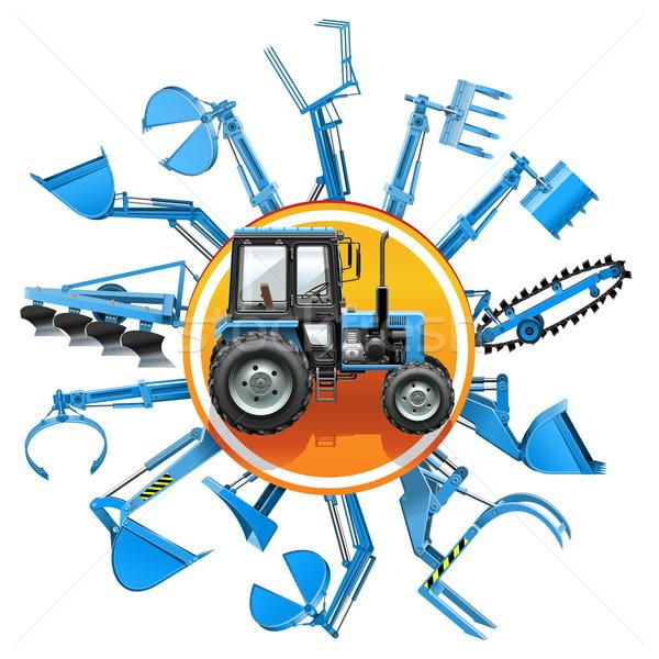 Vector Tractor Equipment Concept Stock photo © dashadima
