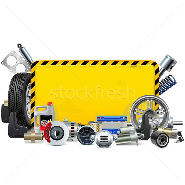 Vector Car Spares Yellow Frame Stock photo © dashadima