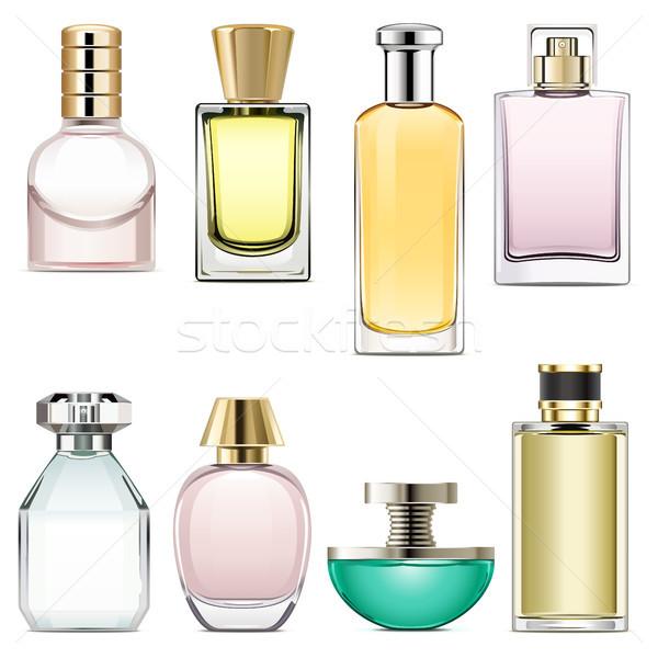 Wektora perfum odizolowany biały kobieta Zdjęcia stock © dashadima