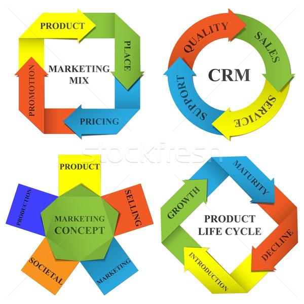 Vector diagrams of marketing Stock photo © dashadima