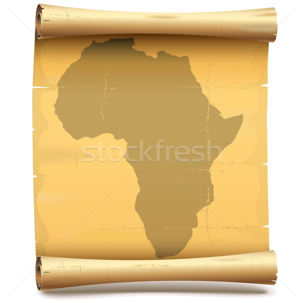 Vettore carta scorrere africa isolato bianco Foto d'archivio © dashadima