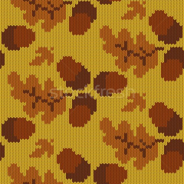 Vector Autumn Knitted Pattern 3 Stock photo © dashadima