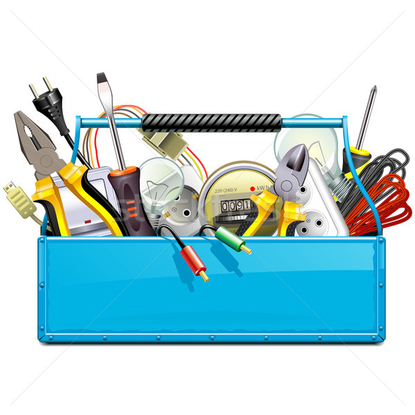 Vector Blue Toolbox with Electric Tools  Stock photo © dashadima