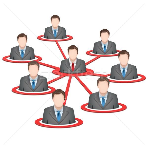 Zdjęcia stock: Wektora · business · network · odizolowany · biały · sieci · garnitur