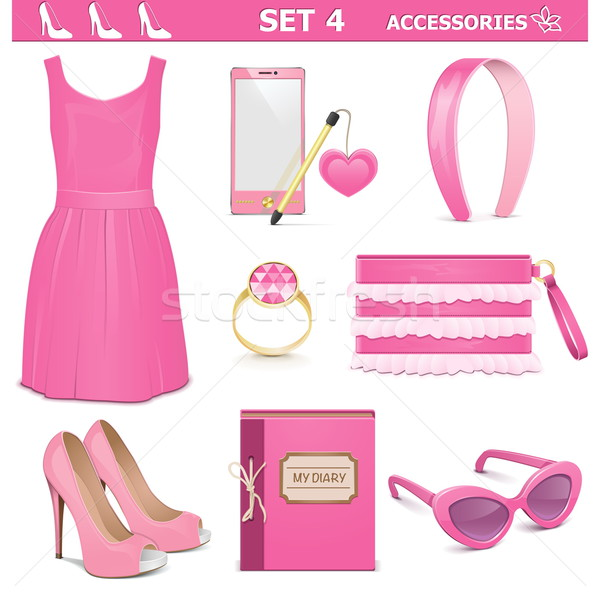 Vector Female Accessories Set 4 Stock photo © dashadima