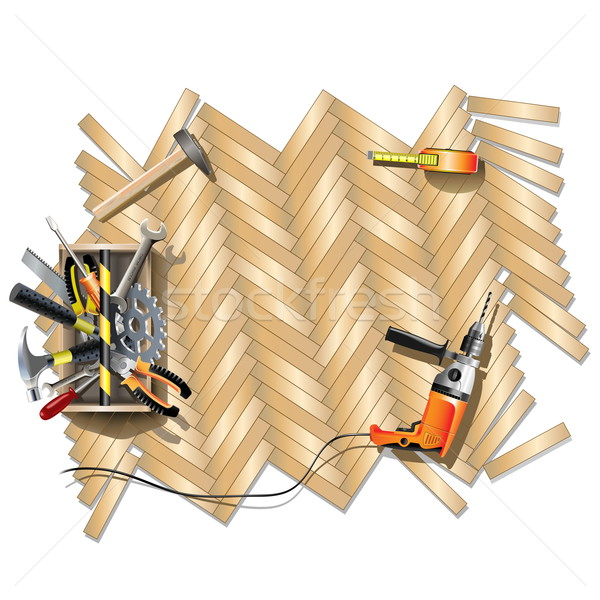 Housing Repair Frame with Toolbox Stock photo © dashadima