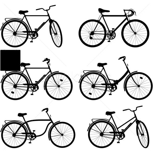 Vector Bicycle Pictogram Set 3 Stock photo © dashadima