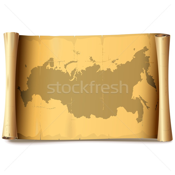 Vector Paper Scroll with Russia Stock photo © dashadima