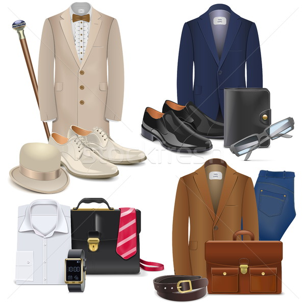 Vector Male Fashion Accessories Set 3 Stock photo © dashadima