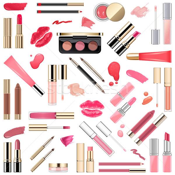Vector Lips Makeup Cosmetics Stock photo © dashadima