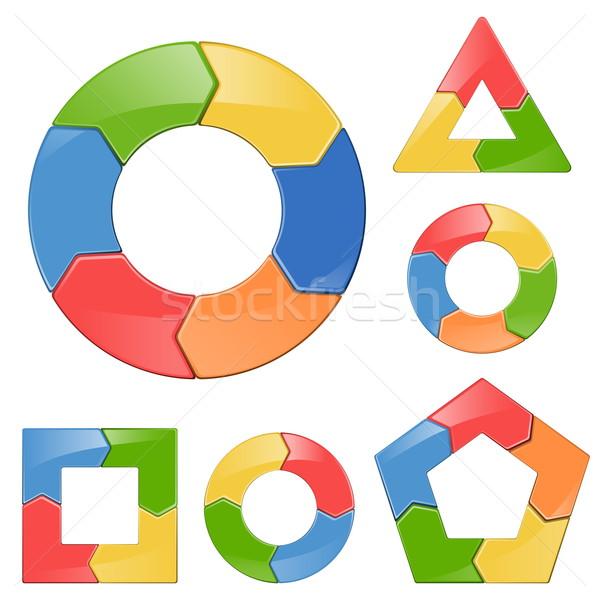 вектора цикл набор модель маркетинга графа Сток-фото © dashadima