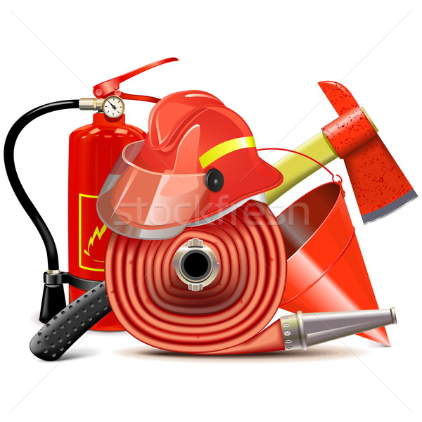 Vector Fire Prevention Equipment Concept Stock photo © dashadima