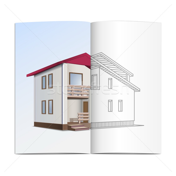 Vector house sketch Stock photo © dashadima