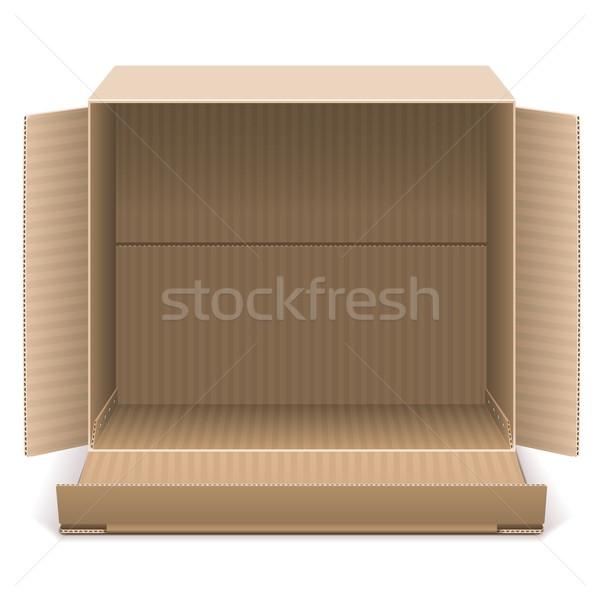 Stock photo: Vector Open Carton Box