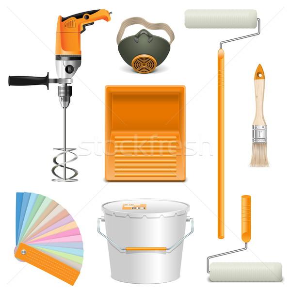 Vector Painting Tools Stock photo © dashadima