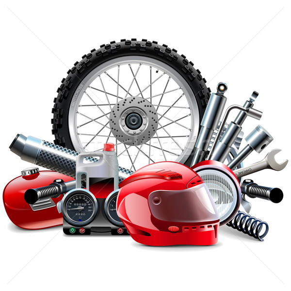 Vector Motorcycle Spares Concept Stock photo © dashadima