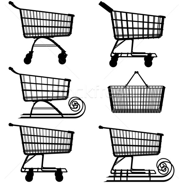 Vector Supermarket Cart Pictogram Stock photo © dashadima