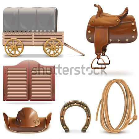Vector Cowboy Sackcloth Frame Stock photo © dashadima