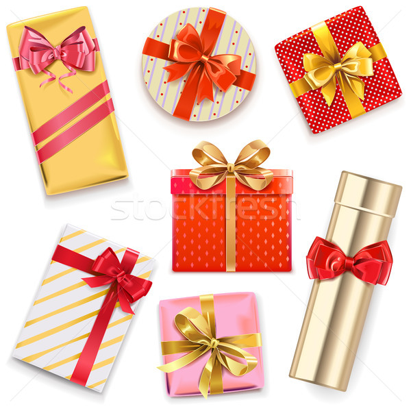 Vector Glossy Gift Boxes Stock photo © dashadima