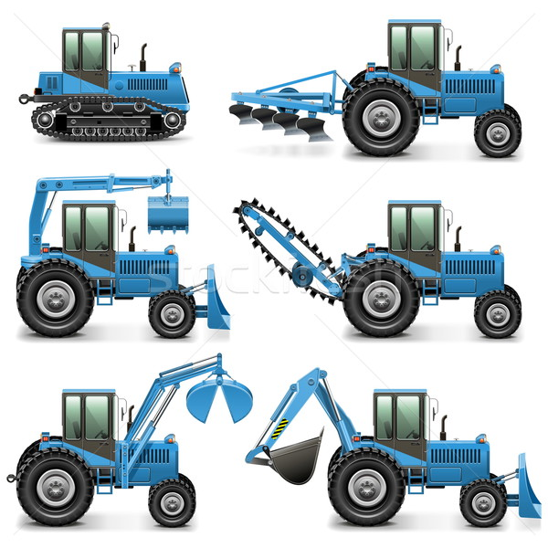 Vector Agricultural Tractor Set 1 Stock photo © dashadima