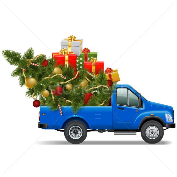 Vector Christmas Pickup Stock photo © dashadima