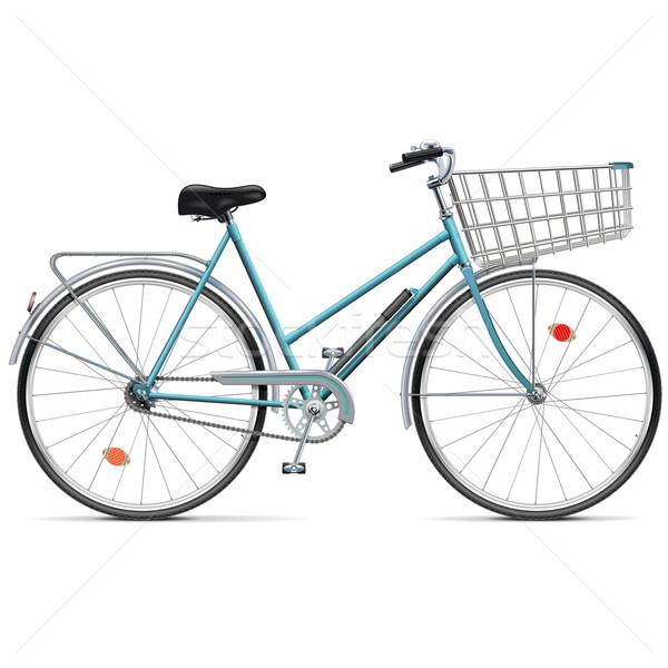 Vector Bicycle with Cart Stock photo © dashadima